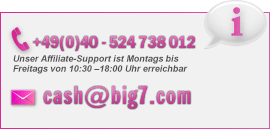 Kontakt zu Cash.Big7.com: +49(0)40 - 524 738 012